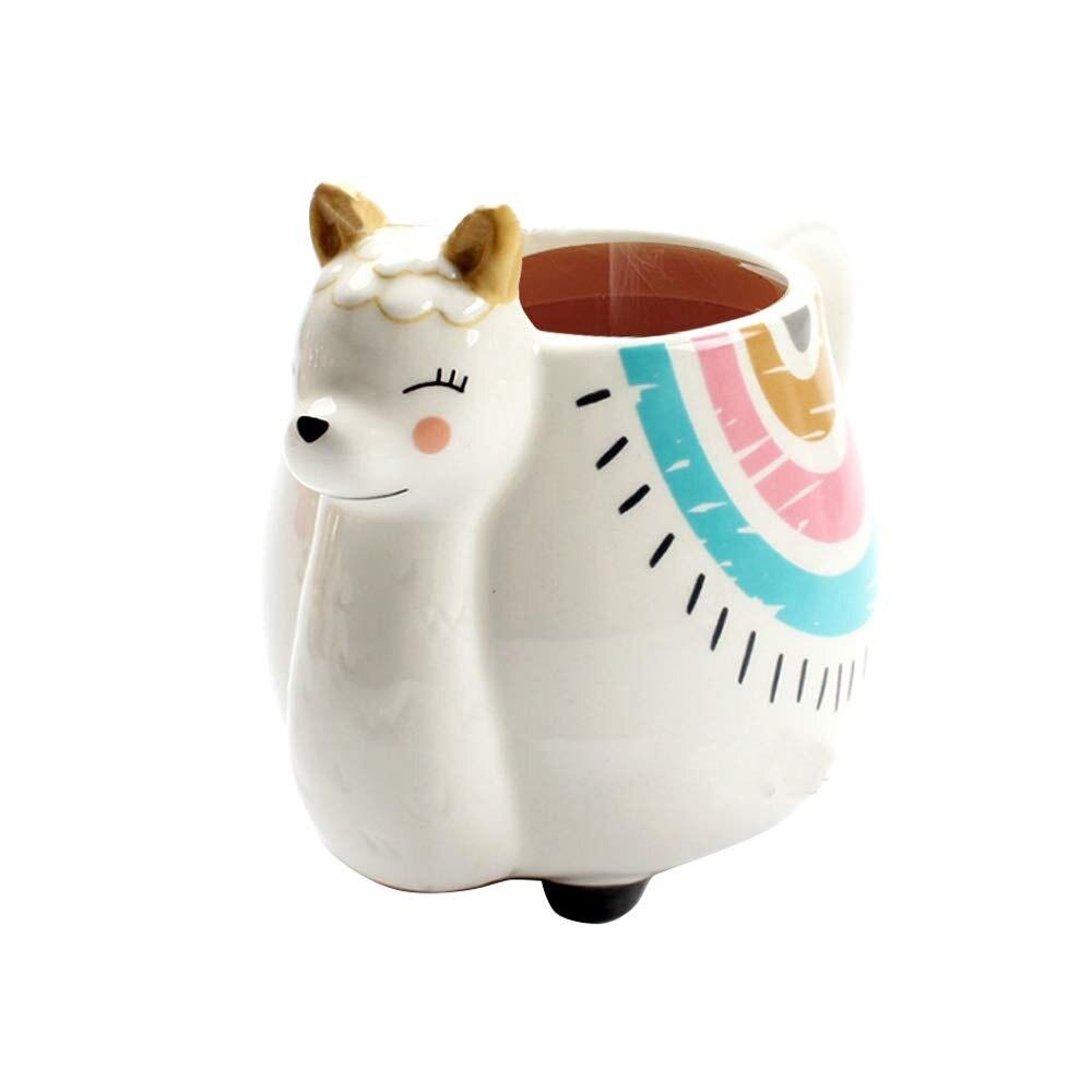 Novelty Rainbow Unicorn in a Tea Cup Decorative Ornament Figurine Gift
