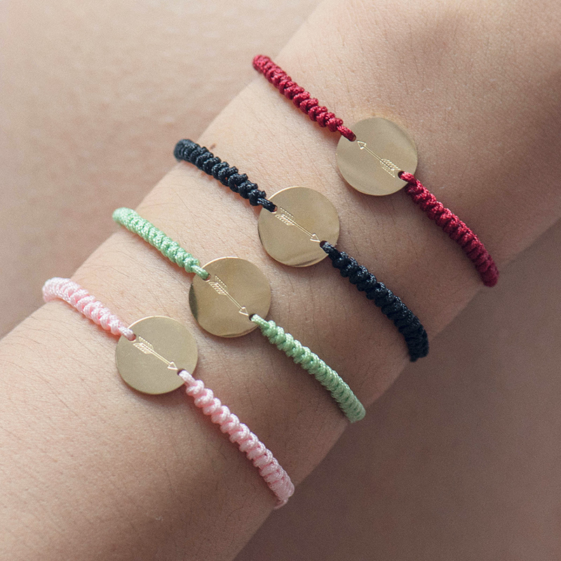 Fever Free Lucky Red Summer Beach Bracelet For Women Friendship Charm Bracelets Bangles Dainty Stainless Steel Jewelry Wholesale in Charm Bracelets from Jewelry Accessories
