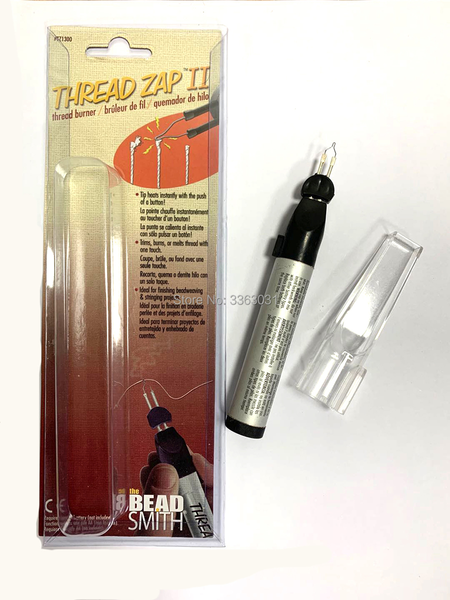 not included Requires one AA battery Cordless Thread Burner Tool