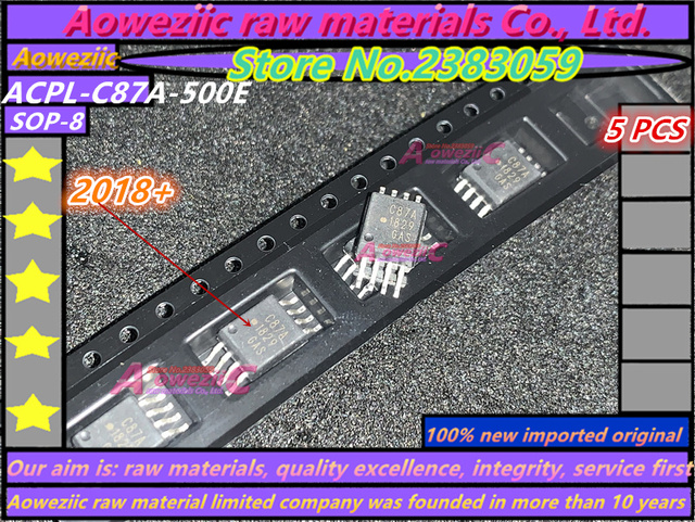 Aoweziic 2018 + % 100 yeni ithal orijinal ACPL C87A ACPL C87A 500E C87A ACPL C87AT 500E C87AT SOP 8 İzolasyon Optocoupler