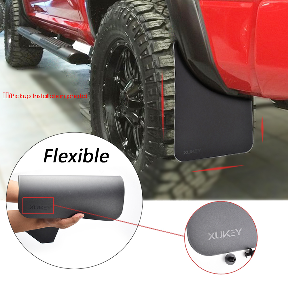 4x WIDE Rubber Mud Flaps FRONT /& REAR Mudflaps Universal Fits Toyota RAV4