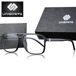 Image 2 - Anti Blau Licht Computer Gläser für Männer Rahmen Optische Brillen Rahmen Myopie Klar Grad TR90 Brille Rahmen