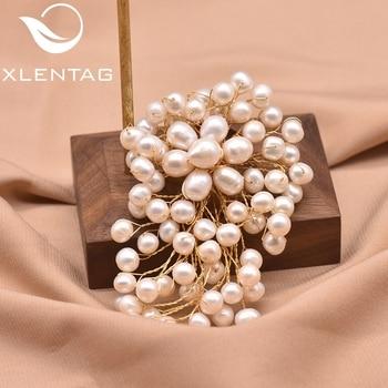 XlentAg-broche de perla Natural de agua dulce para mujer, broches de regalo...