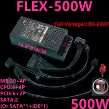 ใหม่PSUสำหรับระบายความร้อนด้วยน้ำSeiko FLEX NAS LOLIขนาดเล็ก 1U D01S3 M4X D36 K39 K49 T39 R47 500Wแหล่งจ่ายไฟFLEX 500W