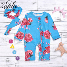 newborn baby clothes 100%cotton knit long sleeve baby girl romper summer toddler boy clothes fashion infant clothing ZAFILLE Baby Girl Clothes Newborn Infant Romper Floral Girls Clothing With Headband Cotton Baby Romper Long Sleeve Baby Clothes