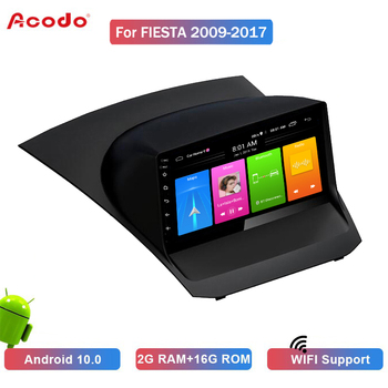ACODO 2G RAM 16G ROM Android 10.0 Car Radio Multimedia Player For Ford Fiesta 2009-2017 Navigation GPS 2 Din image