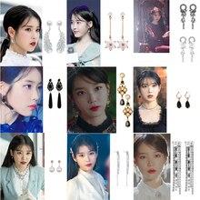 2019 nuevos pendientes de gota brillantes elegantes de la estrella de la TV coreana para las mujeres de Metal círculo cristal Oorbellen fiesta joyería