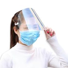 10Pcs Full Face Protective Transparent Mask Anti Saliva Anti Splash Protective Face Shield Transparent Mask Face Protection tanie tanio Unisex about 29x22cm Full Face masks Transparent Full Face Protective Hat