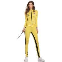 Umorden öldürmek gelin Beatrix Kiddo Cosplay kostüm Kung Fu tulum kadınlar için cadılar bayramı karnaval Mardi Gras kostümleri