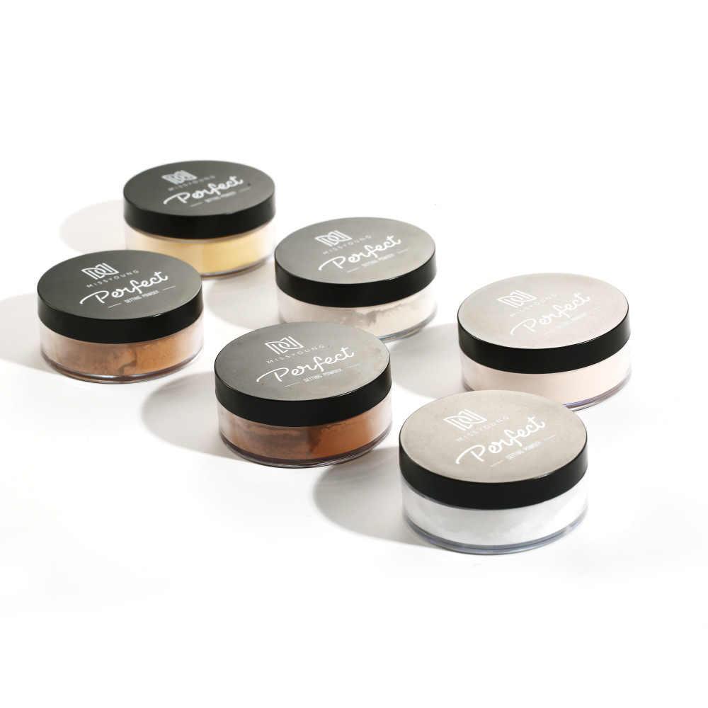 Pó mineral fosco natural para rosto, controlador de oleosidade, corretivo iluminador, maquiagem prensada, pó solto, à prova d' água