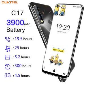 Image 2 - OUKITEL C17 Android 9.0 Smartphone 6.35 Face ID Fingerprint 4G Mobile Phone Triple Camera MT6763 Octa Core 3GB 16GB 3900mAh