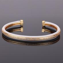 Mcllroy bangle men/trendy/gold/rose gold cz zircon cuff bracelets bangles jewelry for women men 2019 fashion
