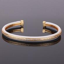 Mcllroy bransoletka mężczyźni/trendy/złoto/różowe złoto cz cyrkon mankietów bransoletki bransoletki biżuteria dla kobiet mężczyzn 2019 moda