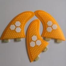 FCS G5 Surf Finไฟเบอร์กลาสน้ำผึ้งSurf FINS/ใหม่FCSกระดานโต้คลื่นTri FINS
