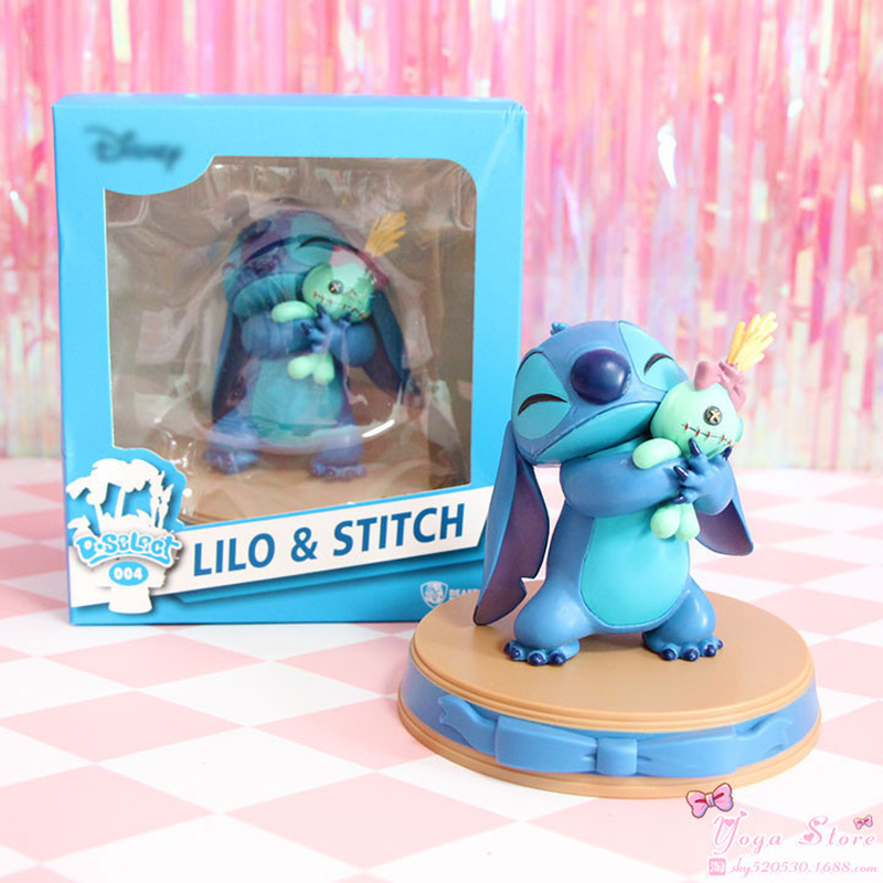 Disney Movie Figures Lilo & Stitch Stitch Scrump Happiness Moment PVC Statue Action Figure Collectible Anime Model Toy Doll Gift