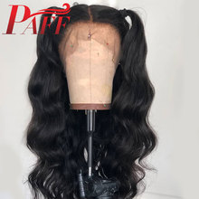 PAFF 28 30 Inch 13*6 Lace Frontal Wig Pre Plucked with Baby Hair Brazilian Natural Wave 180 density Deep Three /Free Part
