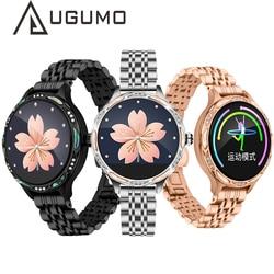 UGUMO Women Smart Watch Waterproof Wristwatch Lady Smartwatch Heart Rate Monitor Fitness Tracker Smart Bracelet for Android IOS