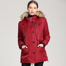 Hooded warm coat Women's winter 2019 coat Winter woman's coat Medium long waist cotton pad Free shipping цена 2017