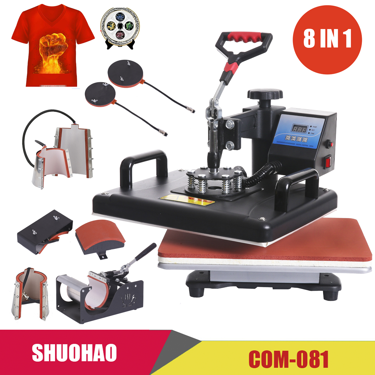 Heat-Press-Machine Tshirts Sublimation-Printer Combo Cheap for Cap Mug-Plate Ce-Approved title=