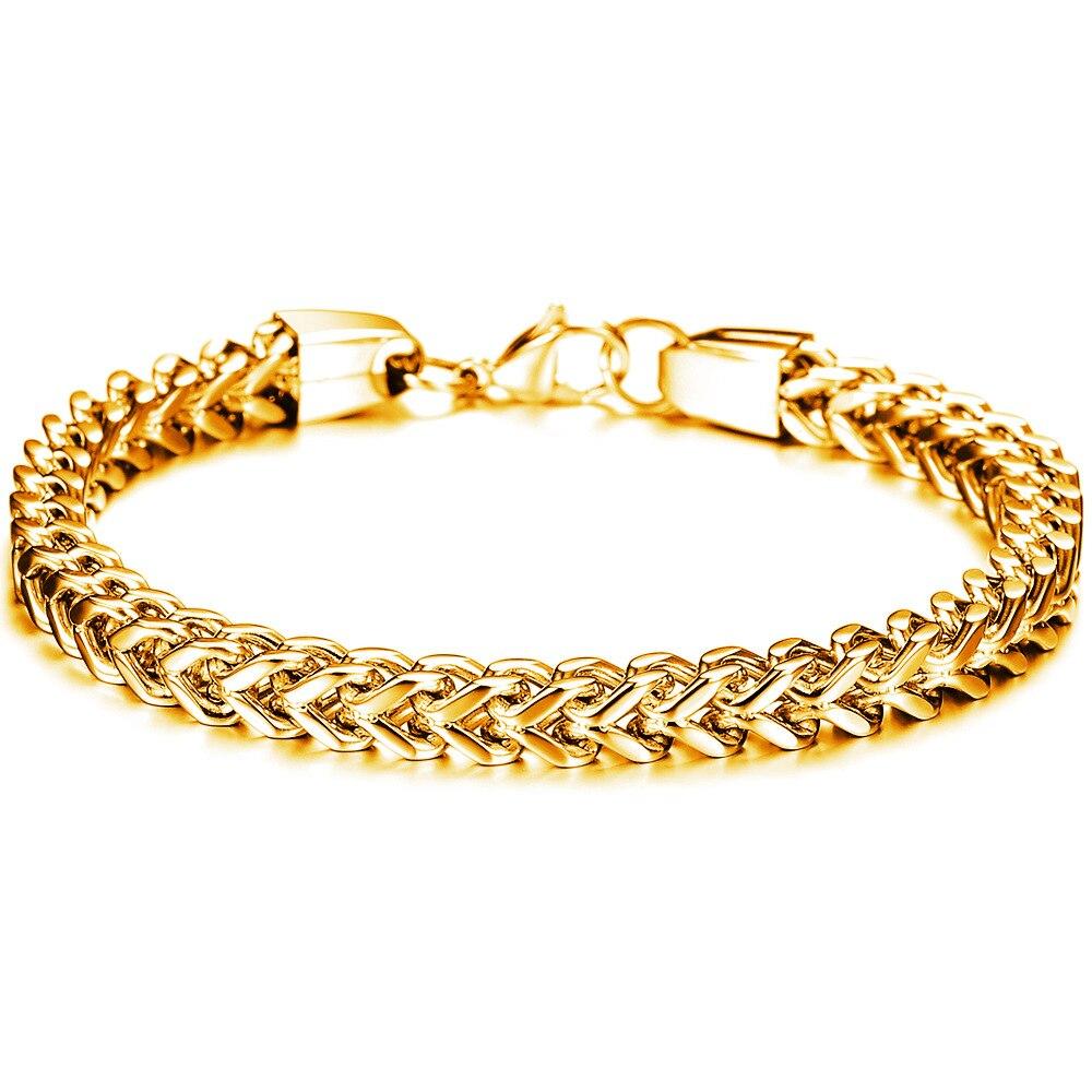 OPK homme simple bijoux de mode personnalité carré écaille de poisson homme titanium bracelet en acier - 2