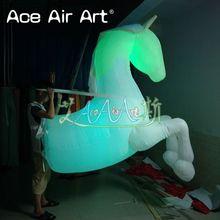 Красочные светодиодные светящиеся модели мультфильма надувная лошадь на заказ Реплика с бесплатным воздуходувкой на продажу