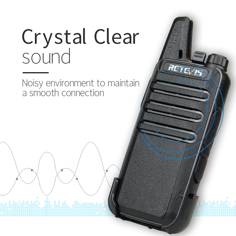 10X Retevis RT22 Walkie Talkies 2W UHF 16CH TOT VOX Scan Squelch 2 Way Radio New