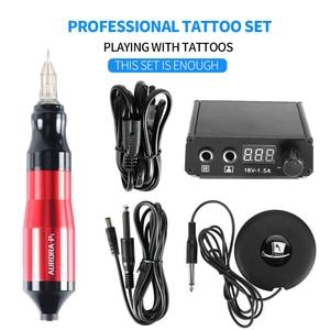 Image 1 - Top Selling Professionele Tattoo Machine Roterende Pen Pak Tattoo Pen Mini Voeding Voetpedaal Tattoo Supply Gratis Levering