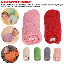 Hot Sale Baby Photography Props Blanket Wraps Stretch Knit Wrap Newborn Photo Wraps Cloth Accessories 40*150cm