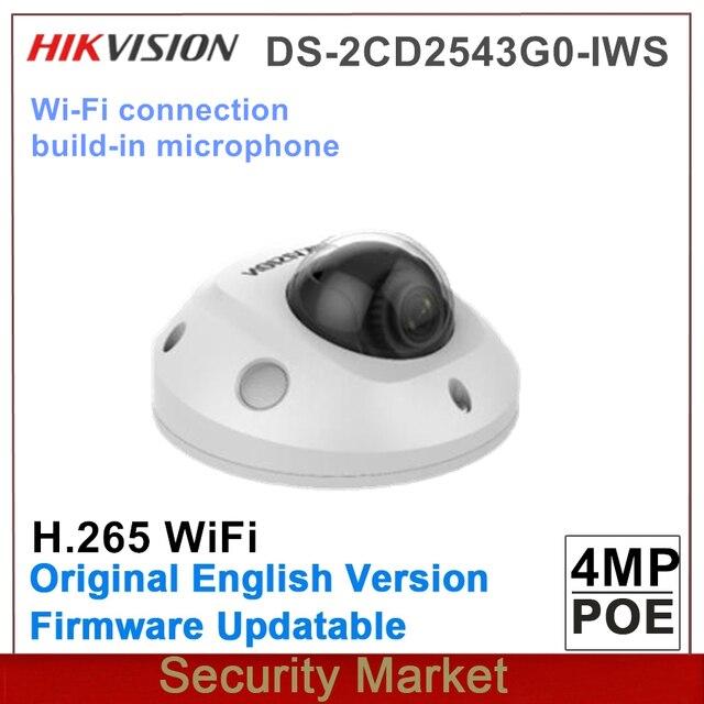 Hikvision caméra de surveillance dôme IP wifi sans fil hd 4MP IP POE, infrarouge DS 2CD2543G0 IWS, remplace DS 2CD2542FWD IWS, Original