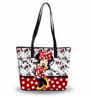 Новые сумки на плечо с Микки Маусом из мультфильма disney, женская сумка-тоут большой емкости, водонепроницаемая сумка, женские модные сумки, д...