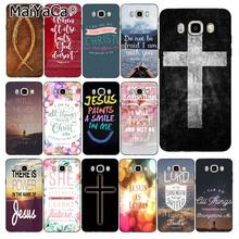 MaiYaCa Christian Jesus Bible Verse Phone Case For Samsung Galaxy J7 J6 J8 J4 J4Plus J7 DUO J7NEO J2 J7 Prime(China)