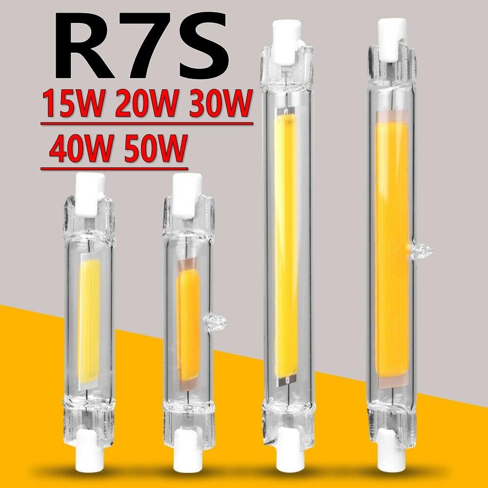 Светодиодный светильник R7S 78 мм 15 Вт, 20 Вт, хит продаж высокое Мощный точечный светильник 118 мм 30 Вт, 40 Вт, 50 Вт, ручная сборка Стекло трубка COB л...