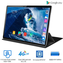 4G LTE 2 in 1 Tablet PC 11.6 inch Tablet thin Laptop 1920x1080 Android Tablet With Keyboard Dual SIM card with Google store 9 inch a33 allwinner android 4 2 quad core google tablet pc 8gb keyboard bundle