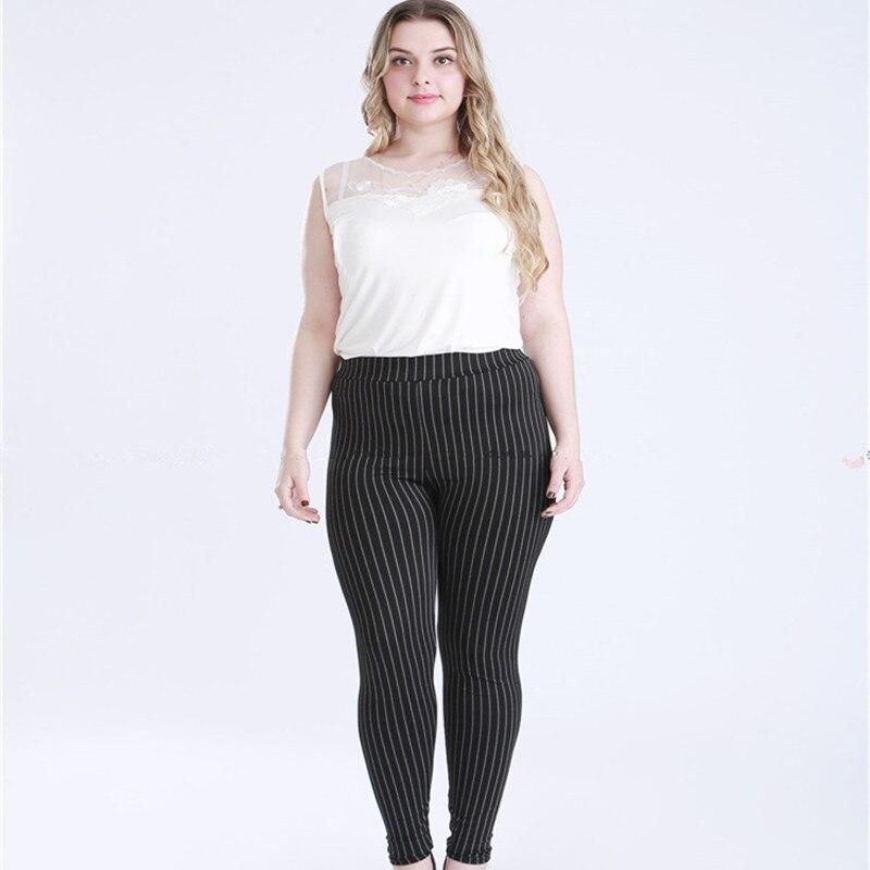 Plus Size 5XL Women fake denim Leggings Fitness High Waist Elastic jeans Leggins Black Striped Legging Feminina Pencil Legginsy Jeans Women Bottom ! Plus Size Women's Clothing & Accessories