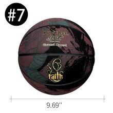 Баскетбольный мяч для мужчин и женщин, износостойкий мяч из искусственной кожи с узором розы, подходит для тренировок и игр в помещении и на ...