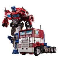 Transformação op comandante liga de metal filme série figura ação robô menino brinquedos crianças presentes carro robô modelo super herói 18cm