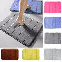 цена на 1pc Home Coral Fleece Bathroom Mat Non-slip Memory Foam Rug Soft Floor Carpet Super Absorbent Washable 40 x 60cm