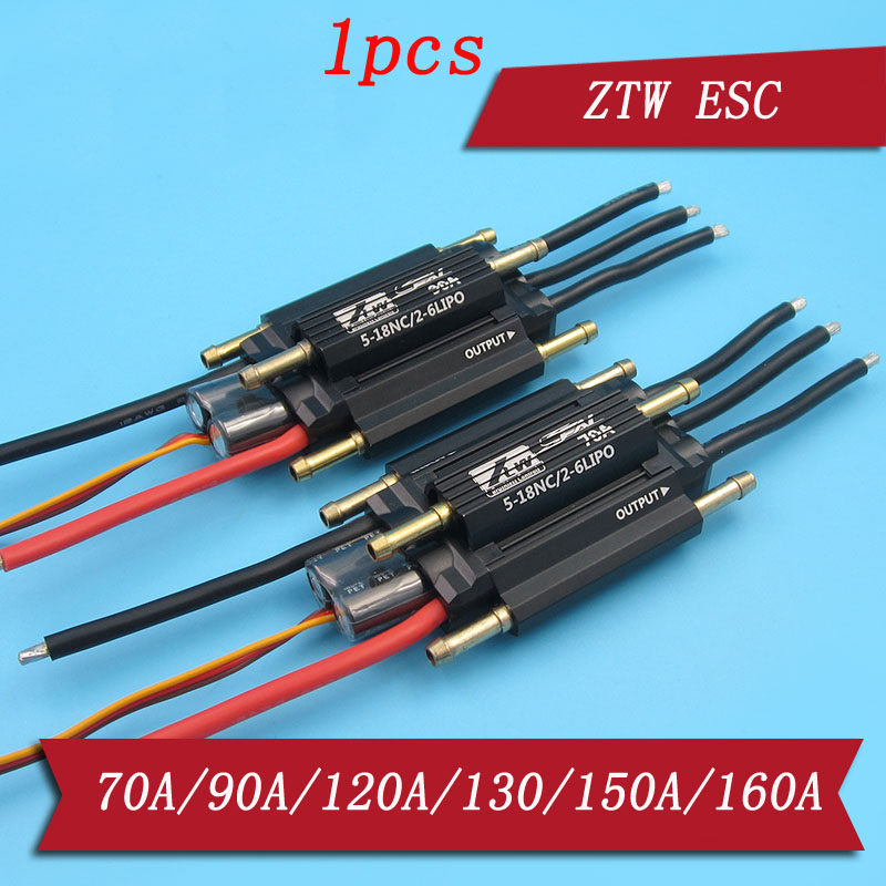 1pcs ZTW 2-6S 70A/90A/130A/160A SBEC Brushless <font><b>ESC</b></font> 6-12S 120A 150 OPTO <font><b>HV</b></font> Watercooling Dual-way Speed Controller for RC Boat image