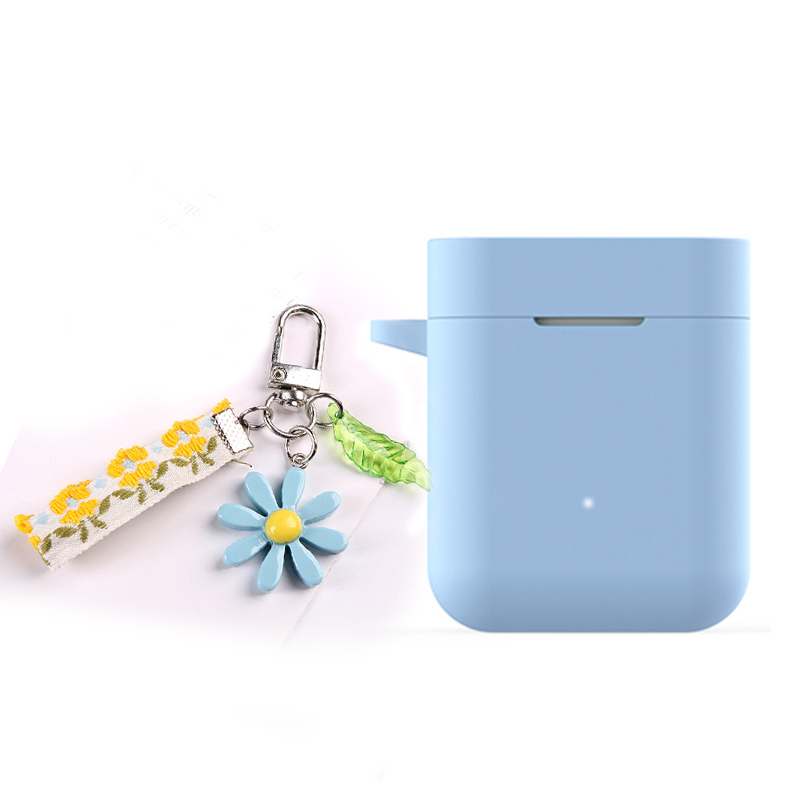 For Xiaomi Mi AirDots Pro/ Mi True /Air Lite / Case luxury Lace flower Keyring Silicone Earphones case for Xiaomi Air 1 Cover