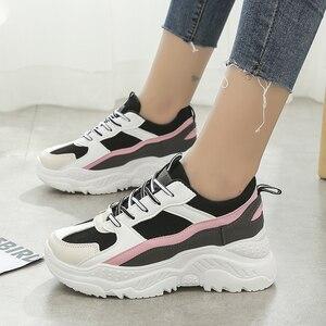 Image 2 - Scarpe da corsa in PU per Sneakers Donna Scarpe Donna traspirante feminino Zapatillas Mujer femme 2019 Deportivas Zapatos