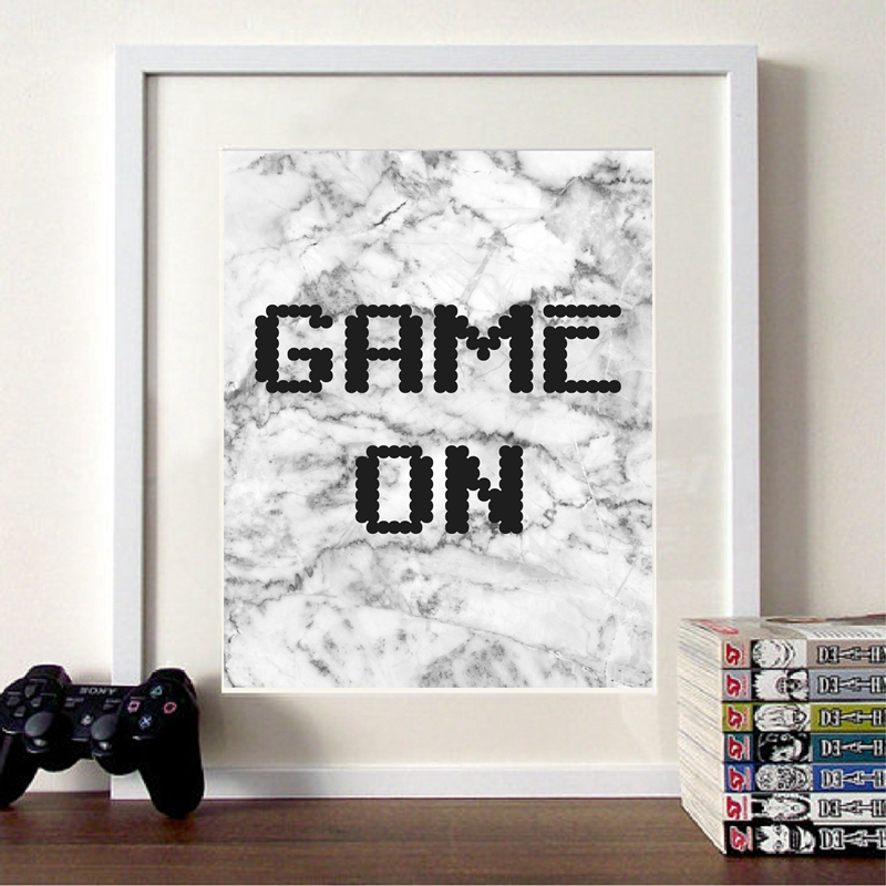 Video Game Poster Gaming Room Decor
