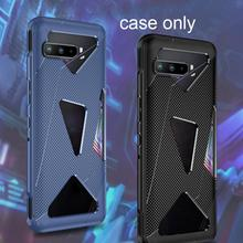 Cellphone Case Shockproof Cover For Asus ROG Luxury Glass Battery Case Shockproof Soft Rear Back Hybrid TPU Cover Matte Hou G5S4