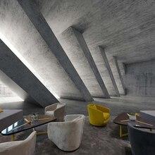 Papel tapiz de foto personalizado Retro Industrial viento cemento ceniza extensión espacio Mural Sala decoración de fondo de TV 3D papel tapiz