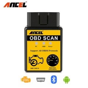 ANCEL ELM327 OBD2 Scanner Bluetooth Car Diagnostic Tool Read Erase Errors Engine System OBDII EOBD Automotive Code Reader