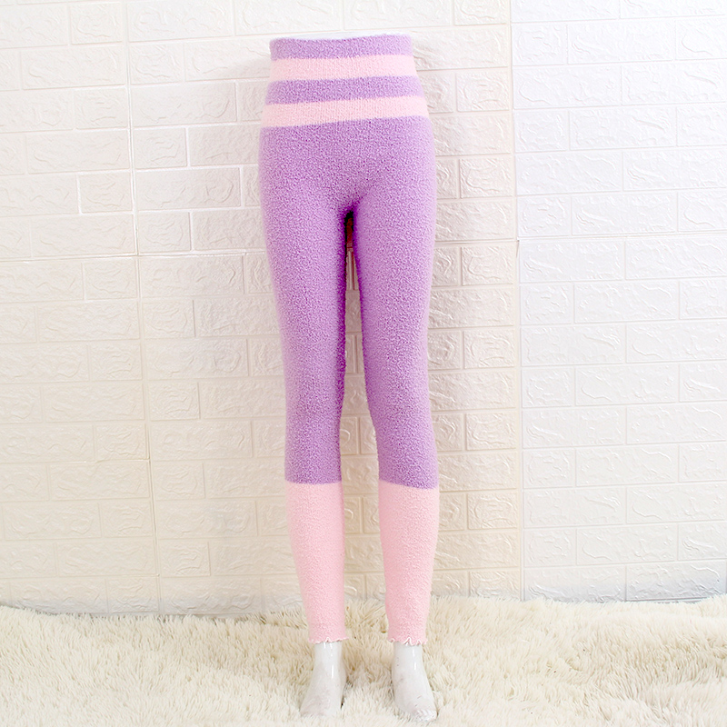 Теплые штаны из микрофибры, эластичные брюки для женщин, сохраняющие тепло, домашние штаны в физиологический период для увеличения - Цвет: ZCY