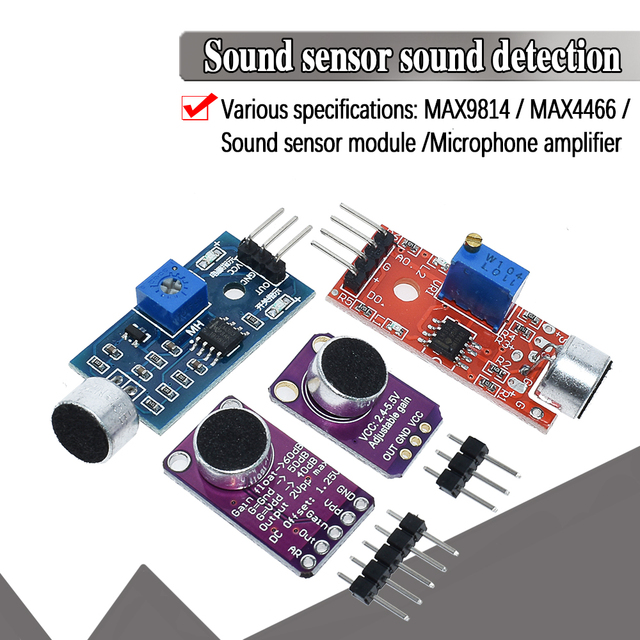 Selling Sound sensor module sound control sensor MAX4466 MAX9814switch detection whistle switch microphone amplifier For Arduino