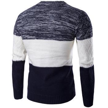 Rahat kazak erkekler Slim Fit triko dış giyim sıcak kış kazak