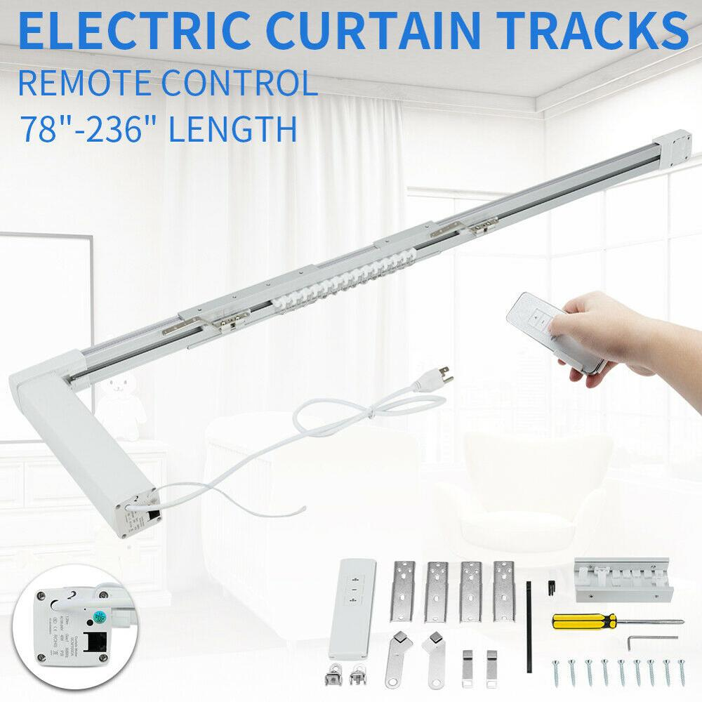 2.2 M/3.2M/4.2M/6.2 M Smart Home Automatic Motorized Electric Curtain Track Remote Control US Stock