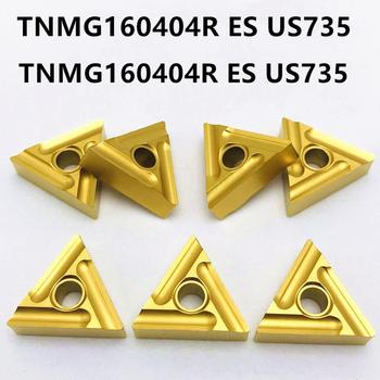 Cutting tool TNMG160404R US735 high quality carbide inserts outer wheel cutter TNMG160404 R metal CNC parts lathe - discount item  40% OFF Machinery & Accessories