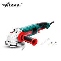 Электрическая угловая шлифовальная машина LANNERET, 1050 Вт, 125 мм, переменная скорость 3000-10500 об/мин, безосколочная защита для резки металла или ка...